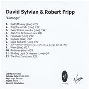 Click here for more info about 'David Sylvian - Damage - Live'
