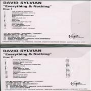 Click here for more info about 'David Sylvian - Everything & Nothing - 2 CD-R set'