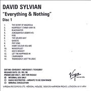 Click here for more info about 'David Sylvian - Everything & Nothing'