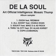 Click here for more info about 'De La Soul - Art Official intelligence: Mosaic Thump'