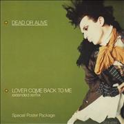 Click here for more info about 'Dead Or Alive - Lover Come Back To Me - Poster Sleeve'