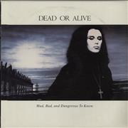 Dead Or Alive Mad Bad And Dangerous To Know USA vinyl LP Promo