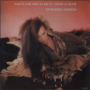 """Dead Or Alive That's The Way I Like It UK 12"""" vinyl"""