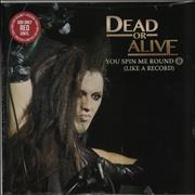 "Dead Or Alive You Spin Me Round - Red vinyl USA 12"" vinyl"
