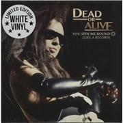 "Dead Or Alive You Spin Me Round - White Vinyl USA 7"" vinyl"