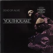 Dead Or Alive Youthquake - Stickered sleeve UK vinyl LP