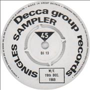 Click here for more info about 'Decca - Decca Group Records Singles Sampler W/E 19th Dec. 1969'