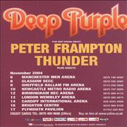 Click here for more info about 'Deep Purple - 2004 U.K. Tour Handbill'