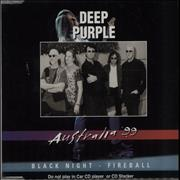 Click here for more info about 'Deep Purple - Black Night - Australia '99'