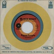"Deep Purple Black Night Mexico 7"" vinyl"