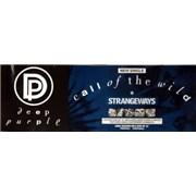 Deep Purple Call Of The Wild UK poster Promo