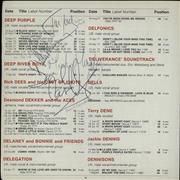 Deep Purple Collection Of Autographs UK memorabilia