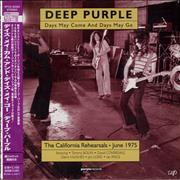 Deep Purple Days May Come And Days May Go Japan CD album Promo