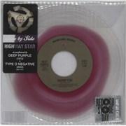 "Deep Purple Highway Star - RSD13 - Clear with Purple Vinyl UK 7"" vinyl"