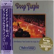 Deep Purple Made In Europe Japan SHM CD