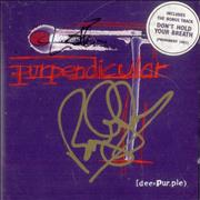 Deep Purple Purpendicular - Autographed USA CD album