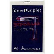 Deep Purple Purpendicular Tour '96 '97 USA tour pass