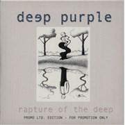 Deep Purple Rapture Of The Deep Germany CD album Promo