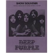 Deep Purple Show Souvenir + ticket stub UK tour programme