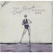 Deep Purple The Deep Purple Singles A's & B's - Blue Italy vinyl LP