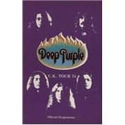 Deep Purple U.K. Tour 74 UK tour programme