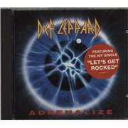 Def Leppard Adrenalize France CD album