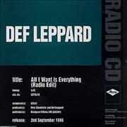 Click here for more info about 'Def Leppard - All I Want Is Everything'