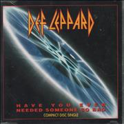 Def Leppard Have You Ever Needed Someone So Bad? Germany CD single