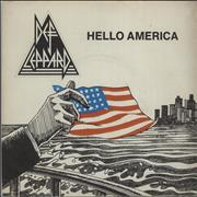Click here for more info about 'Def Leppard - Hello America - P/S'