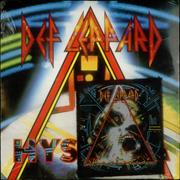 "Def Leppard Hysteria + Sew-On Patch - Sealed UK 7"" vinyl"