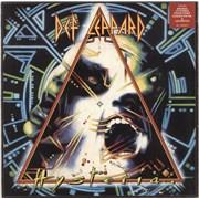 Def Leppard Hysteria - Square Sticker- EX UK vinyl LP