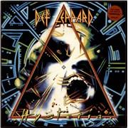 Def Leppard Hysteria - Stickered P/S - EX UK vinyl LP