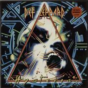 Def Leppard Hysteria - Stickered P/S UK vinyl LP
