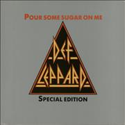 Def Leppard Pour Some Sugar On Me + Sleeve - EX UK shaped picture disc
