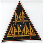Def Leppard Pour Some Sugar On Me UK shaped picture disc