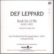 Click here for more info about 'Def Leppard - Rock On'