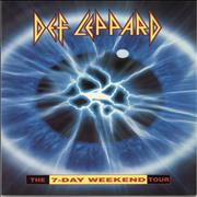 Click here for more info about 'Def Leppard - The 7-Day Weekend Tour + Ticket stub Sheffield'