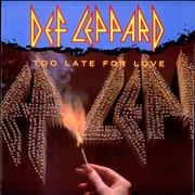 "Def Leppard Too Late For Love UK 12"" vinyl"