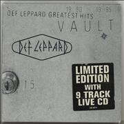 Def Leppard Vault + Slipcase UK 2-CD album set