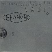 Def Leppard Vault - Greatest Hits 1980-1995 UK 2-LP vinyl set