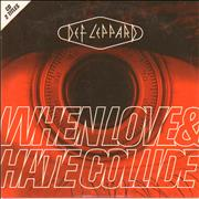 Def Leppard When Love & Hate Collide Germany CD single
