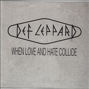 Def Leppard When Love And Hate Collide France CD single Promo