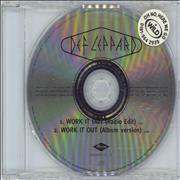 Click here for more info about 'Def Leppard - Work It Out'