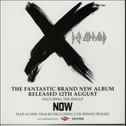 Click here for more info about 'Def Leppard - X / Now - Displays'