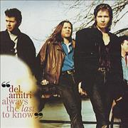 Del Amitri Always The Last To Know USA CD single Promo