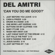 Click here for more info about 'Del Amitri - Can You Do Me Good'