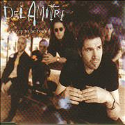 Del Amitri Cry To Be Found UK CD single Promo