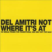 Del Amitri Not Where It's At - Export UK CD single Promo
