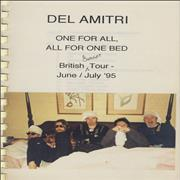 Del Amitri One For All All For One Bed - Tour Itinerary UK Itinerary