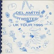 Del Amitri Twisted - 1995 Tour Itinerary UK Itinerary